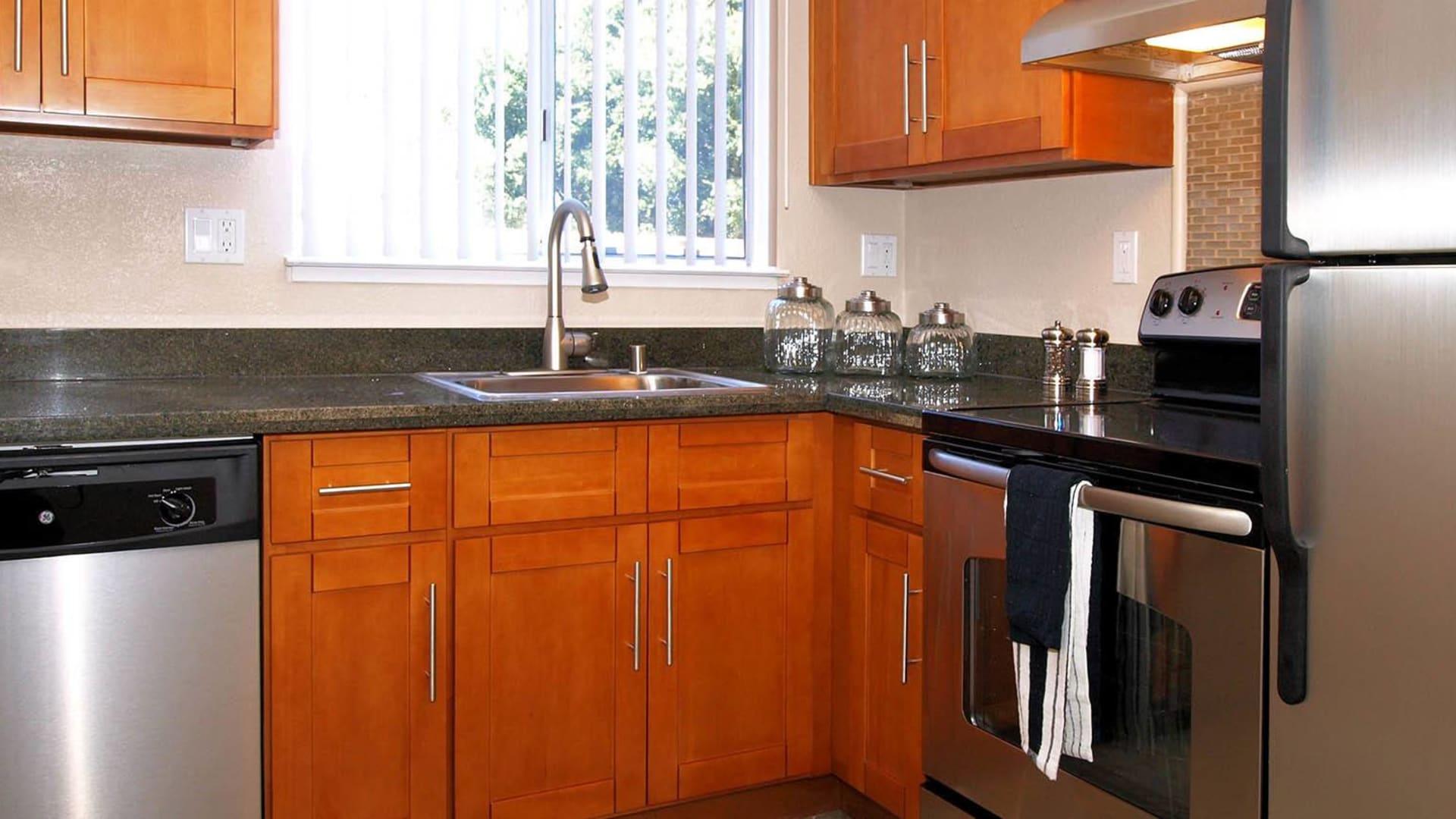 Kitchen at Spring Lake Apartment Homes in Santa Rosa, California