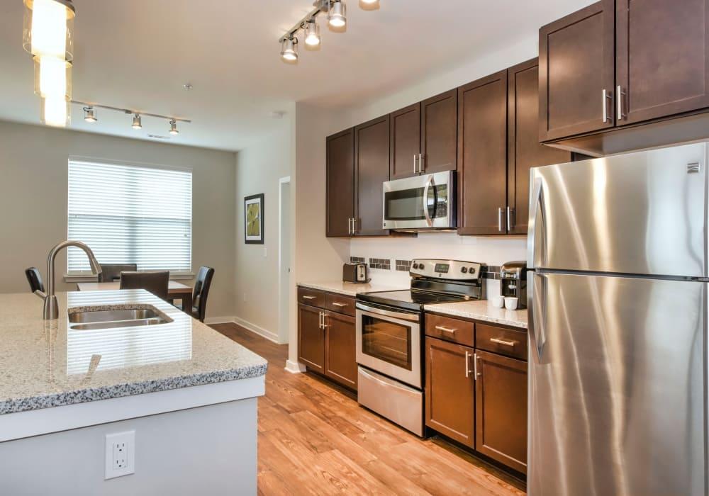 Modern kitchen at Axis Berewick in Charlotte, North Carolina