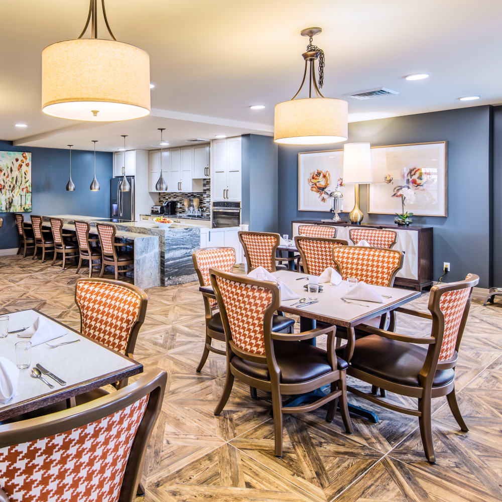 dining area at Stonecrest at Clayton View