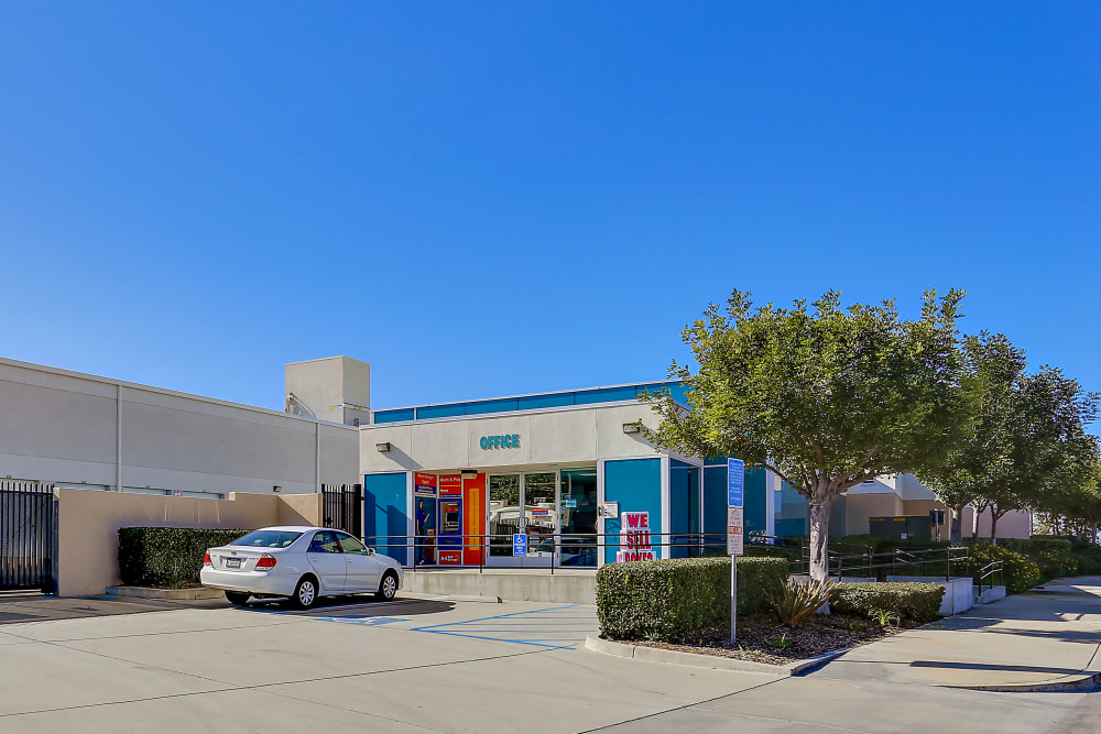 The front entrance to A-1 Self Storage in Lake Forest, California