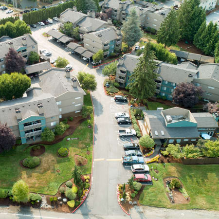 Latitude Apartments aerial view of property and surrounding areas