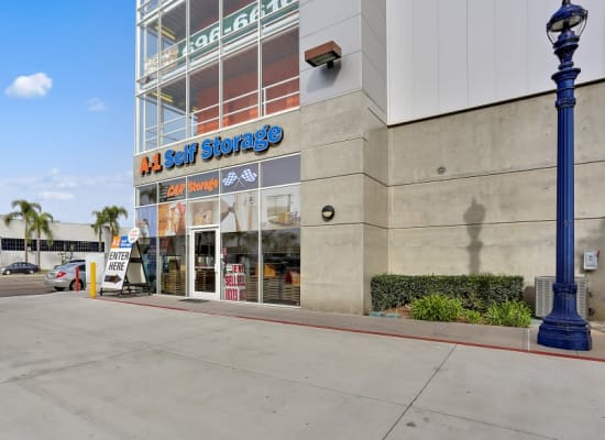 Front entry to A-1 Self Storage in San Diego, California