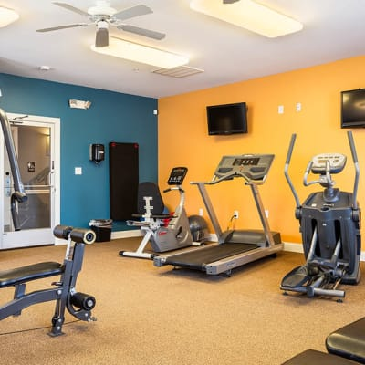Fitness center at Cannon Mills in Dover, Delaware