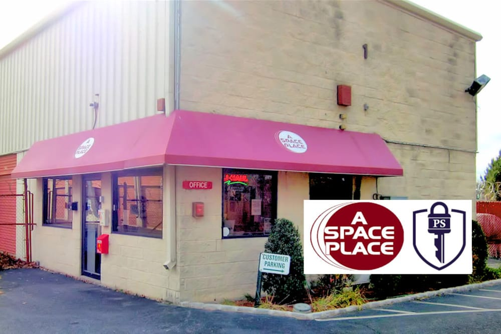 Exterior view of A Space Place Self Storage in Medford, New York
