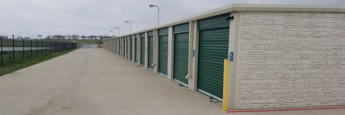 RV, boat, and auto atorage at KO Storage of Cleburne in Cleburne, Texas