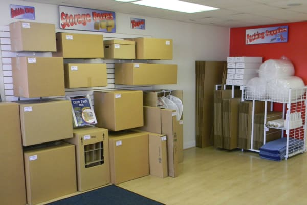 Storage boxes for sale at Self Storage Plus in Alexandria, VA