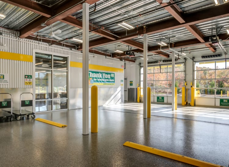 Indoor storage units at Metro Self Storage in Westhampton Beach, New York