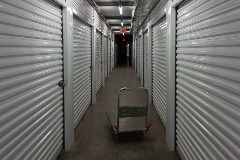 A cart at South Albany Self Storage in Tangent, Oregon
