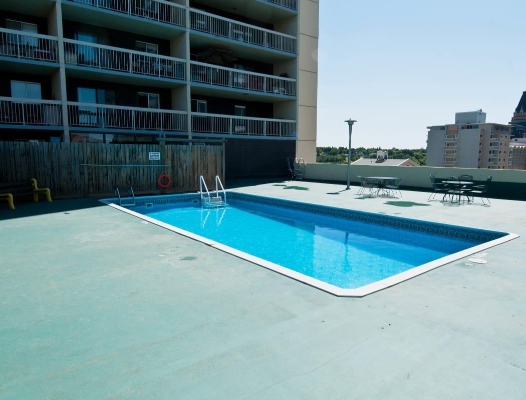 Swimming pool at Saskatoon Tower in Saskatoon, Saskatchewan