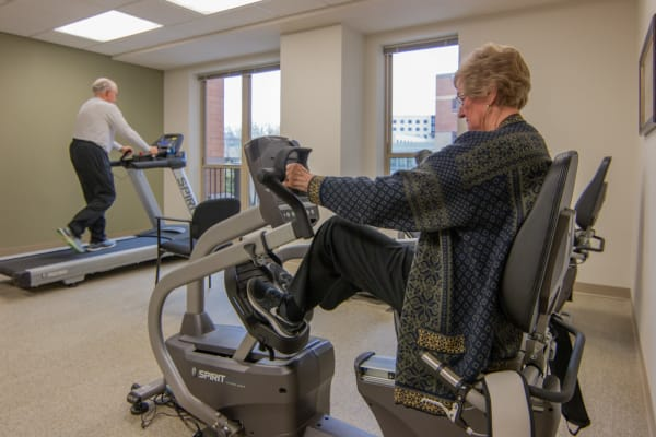 Residents working out at Aurora on France in Edina, Minnesota.