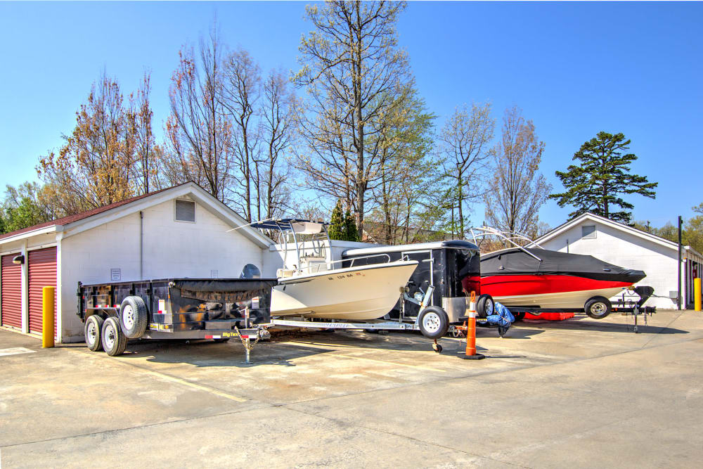 Boat and RV parking at Prime Storage in Midlothian, Virginia