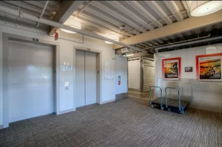 Elevators at StorQuest Self Storage in Escondido, CA