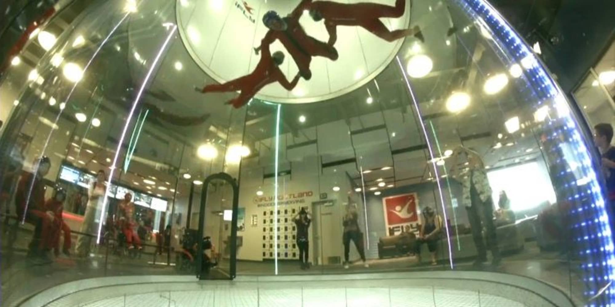 Residents from Stoneybrook Assisted Living in Corvallis, Oregon indoor skydiving