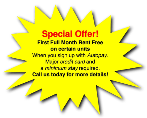 Special offer! First full month free at Global Self Storage in Sadsburyville, Pennsylvania
