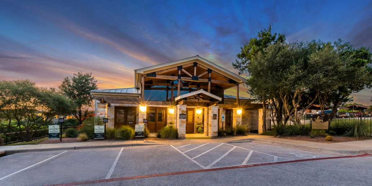 Entrance to Marquis at Canyon Ridge in Austin, Texas