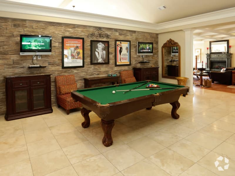 Play a game of billiards at Lexington Park Apartment Homes