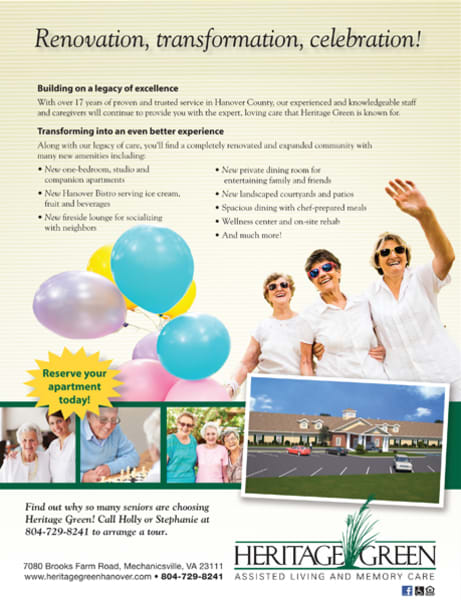 Grand reopening at Heritage Green Assisted Living in Mechanicsville, Virginia