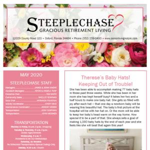 May Steeplechase Retirement Residence newsletter
