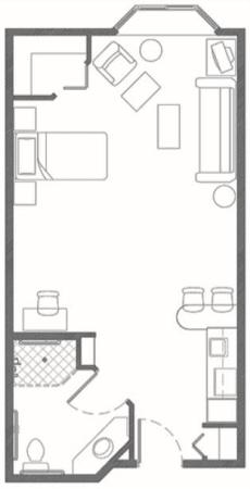 Independent Living plus suite at Hillcrest of Loveland in Loveland, Colorado
