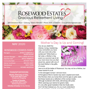 May Rosewood Estates newsletter