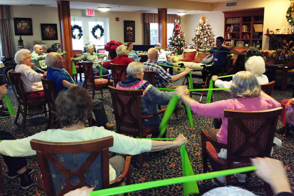 Exercise classes at Traditions of Hanover in Bethlehem, Pennsylvania