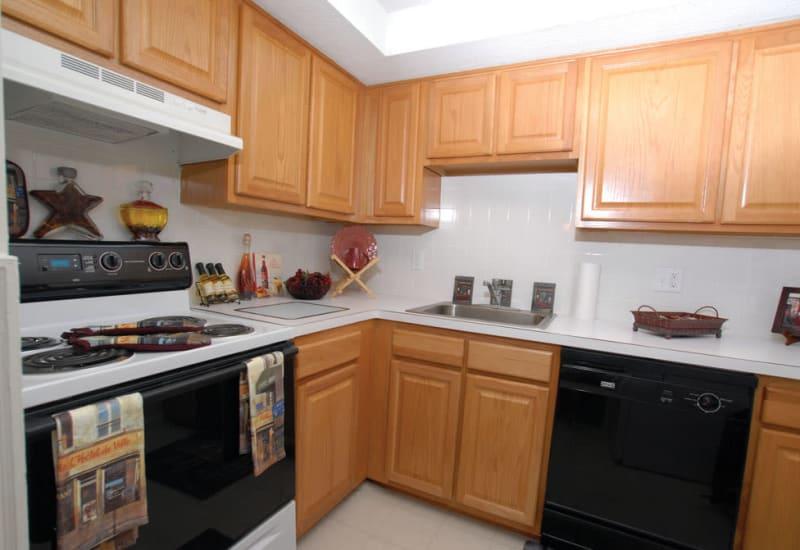 Bright kitchen at Meadows at Marlborough in Marlborough, Massachusetts