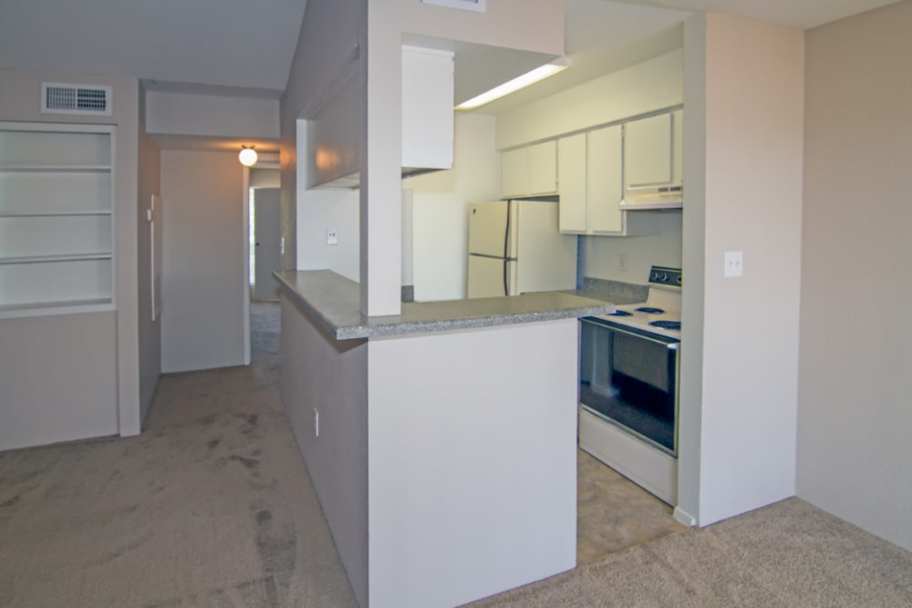 Kitchen at Meadow Park Apartments in Alvin, Texas