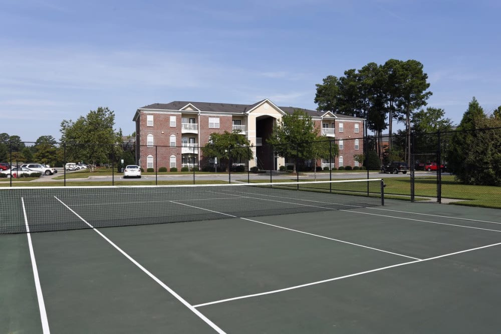 Tennis court outside at Waterford Place in Greenville, North Carolina