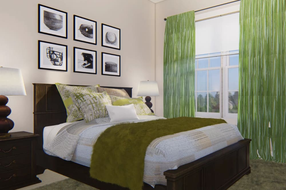 Architectural rendering of bedroom at Harmony at Kent in Dover, Delaware
