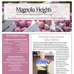 September Magnolia Heights Gracious Retirement Living Newsletter