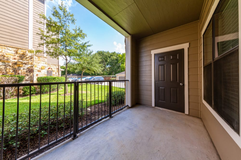 Private patio at Marquis at Katy in Katy, Texas