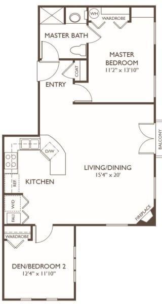 Independent Living Two Bedroom at Hillcrest of Loveland in Loveland, Colorado