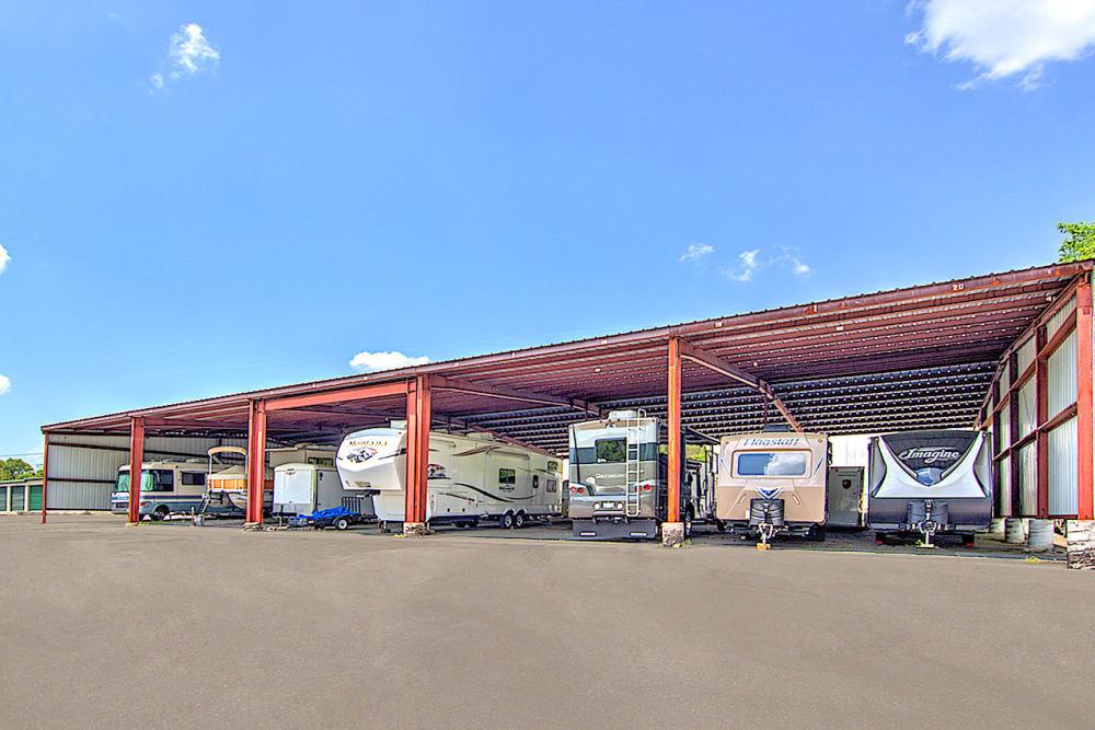 RV storage at Prime Storage in Kingsport, Tennessee