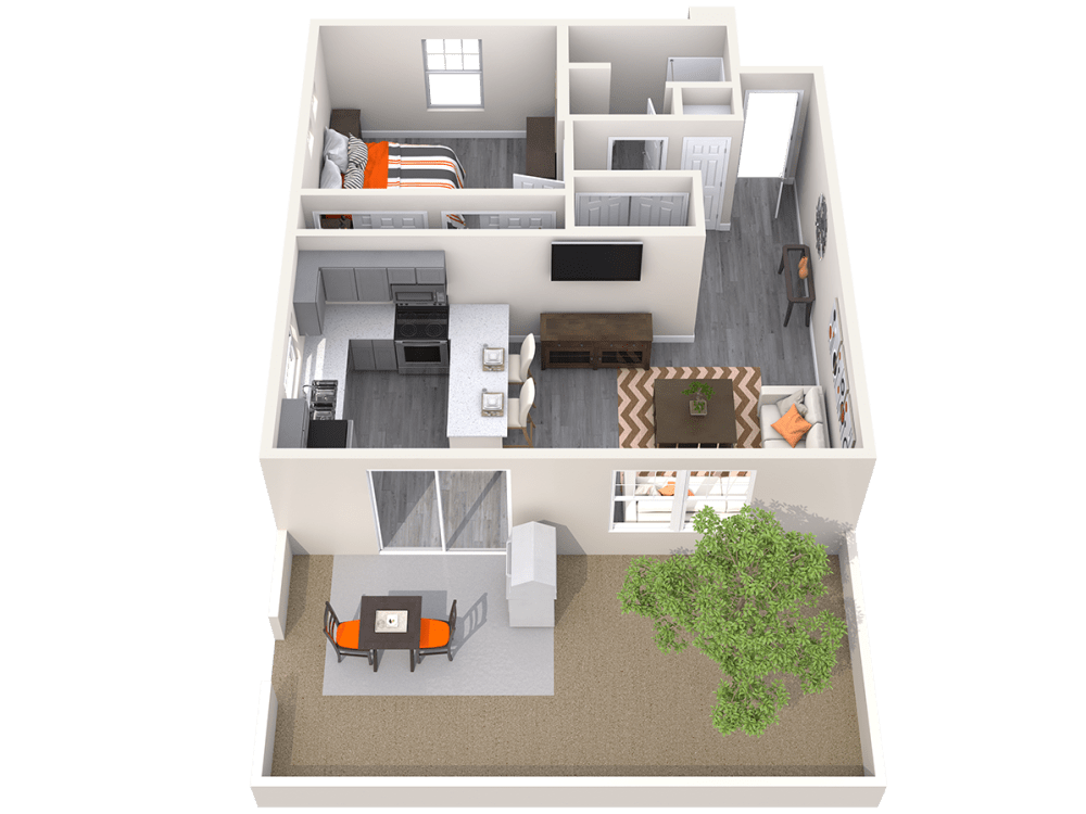 3D Floor plan at Avilla Camelback Ranch in Phoenix, Arizona