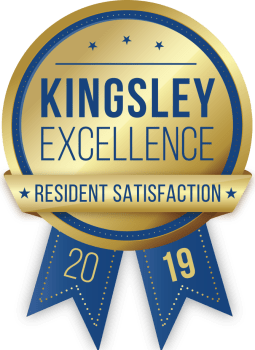Aberdeen Apartments in Lawrence, Kansas received a Kingsley Excellence Residents Satisfaction 2019 award