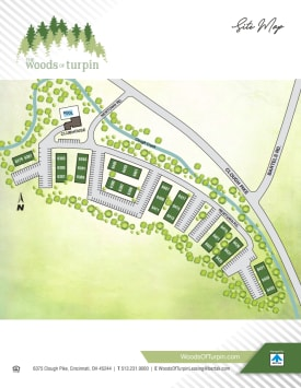 Site map at The Woods of Turpin in Cincinnati, OH
