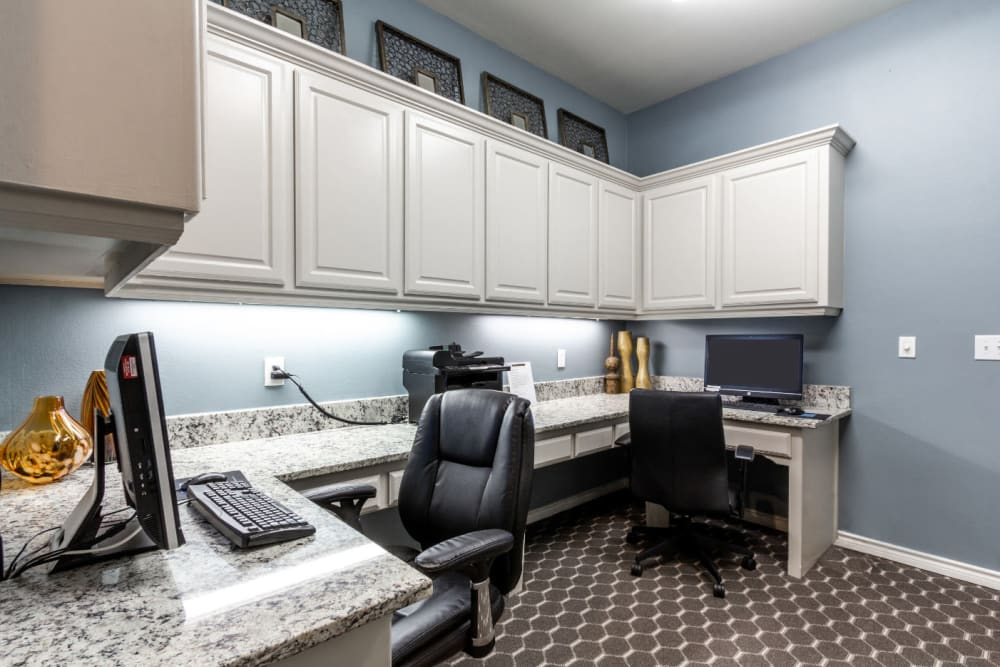 Executive business center at Marquis at Stonegate in Fort Worth, Texas