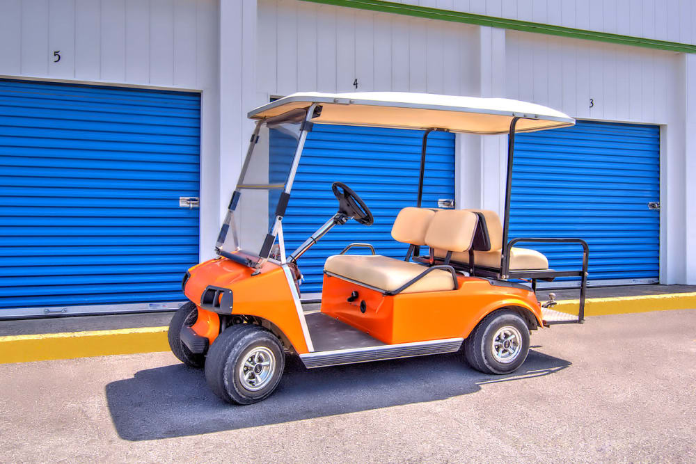 Golf cart at Prime Storage in Kingsport, Tennessee