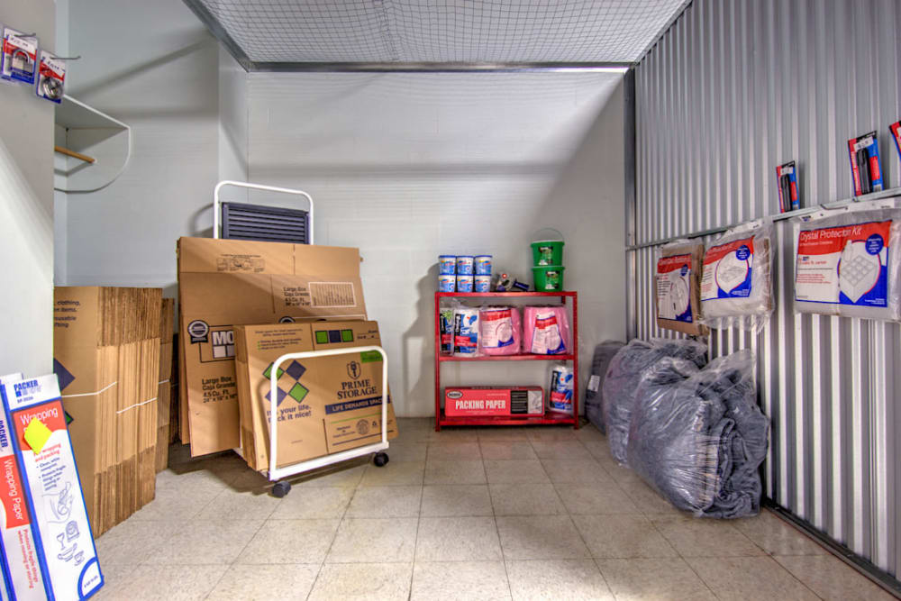 Packing supplies at Prime Storage in Kingsport, Tennessee