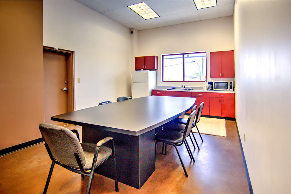 Break room at Prime Storage in Nicholasville, Kentucky