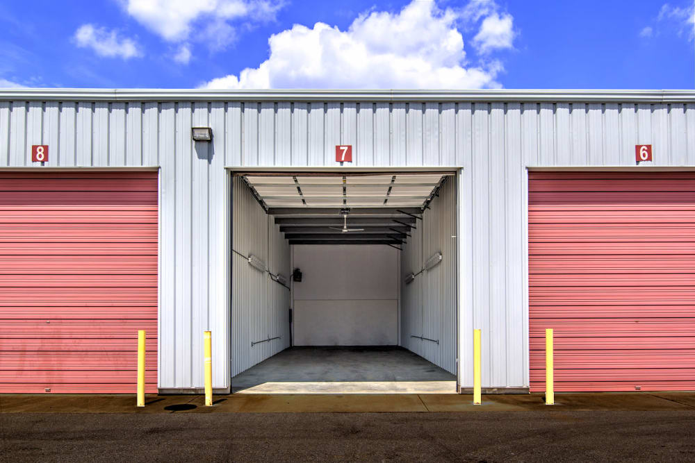 Outdoor storage units at Prime Storage in Nicholasville, Kentucky