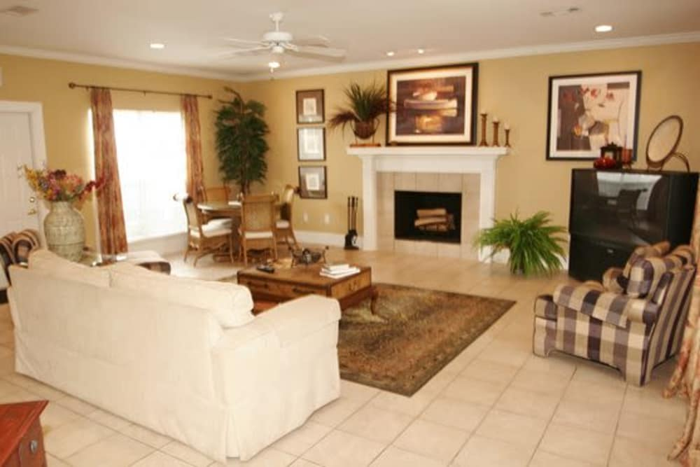 Enjoy apartments with a living room at Twin Oaks in Hattiesburg, Mississippi