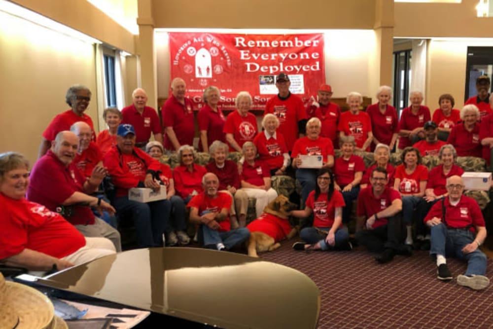Fun event to remember veterans at River Commons Senior Living in Redding, California