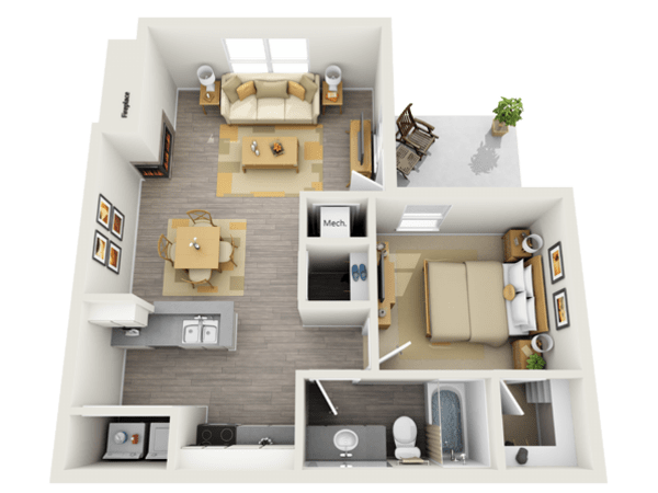 1-Bedroom Apartment at Keystone Apartments in Northglenn, Colorado