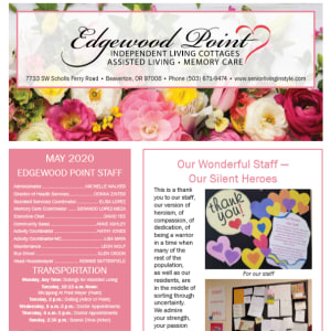May Edgewood Point Assisted Living Newsletter