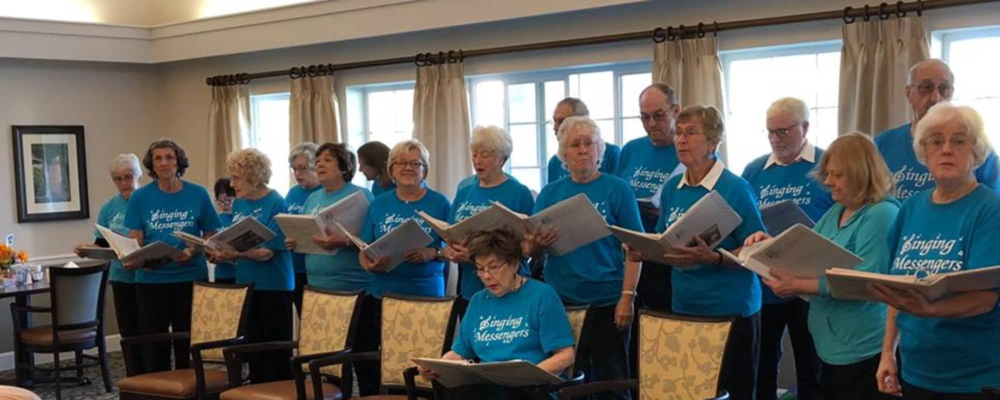 Singing group at The Commons at Dallas Ranch in Antioch, California