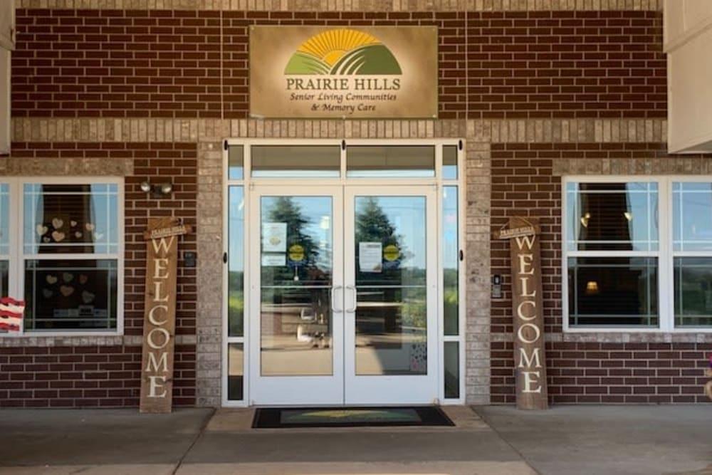 Main entrance to Prairie Hills Clinton in Clinton, Iowa.
