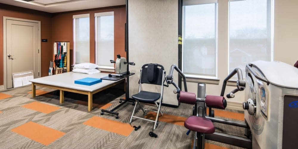 Fitness center at Stonecrest at Clayton View in Saint Louis, Missouri