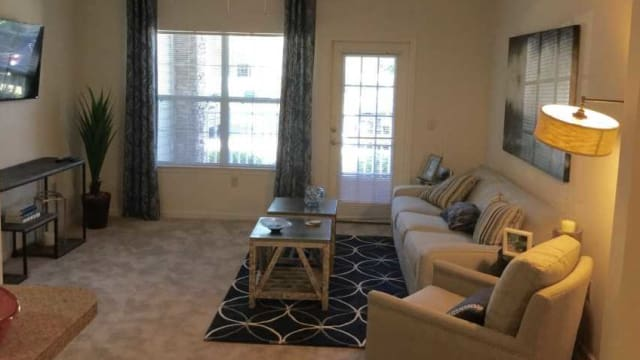 Enjoy a beautiful living room at The Enclave at Deep River