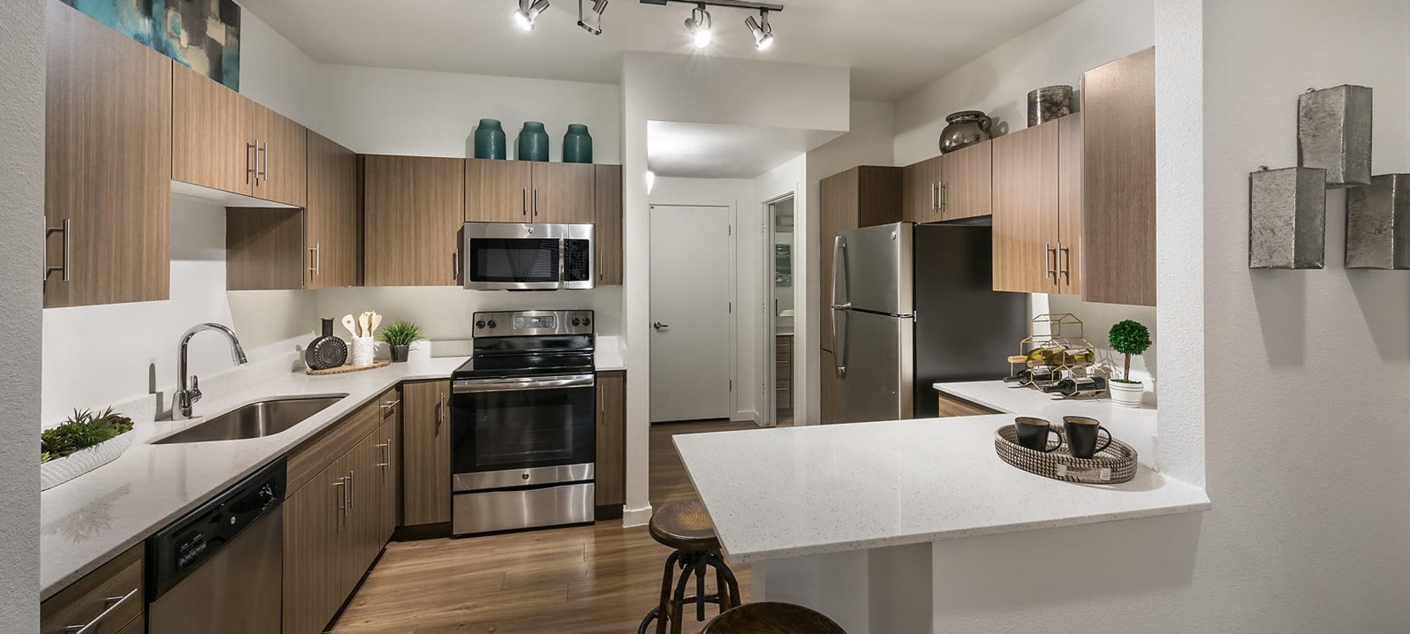 Beautiful luxury kitchen at The Maxx 159 in Goodyear, Arizona